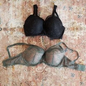 💛 2 Victoria Secret Dream Angels Lined Demi bras
